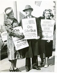 CIO supports Mayflower Hotel strike: 1939