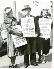 CIO supports Mayflower Hotel strike: 1939