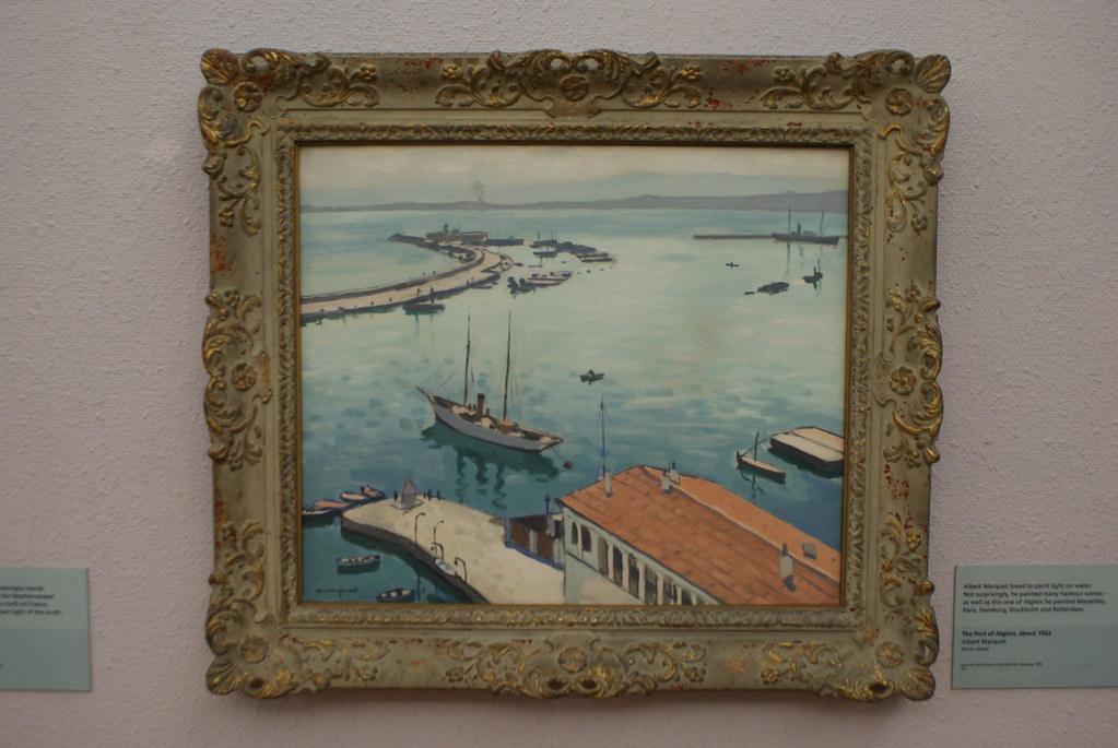 """""""Port d'Alger """" (1922), peinture d'Albert Marquet au Kelvingrode museum de Glasgow."""