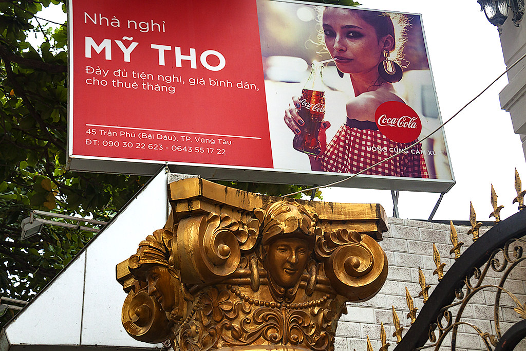 Coca Cola add and Greek capital--Vung Tau