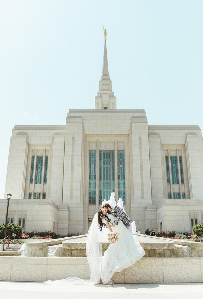 Ogden Temple wedding day