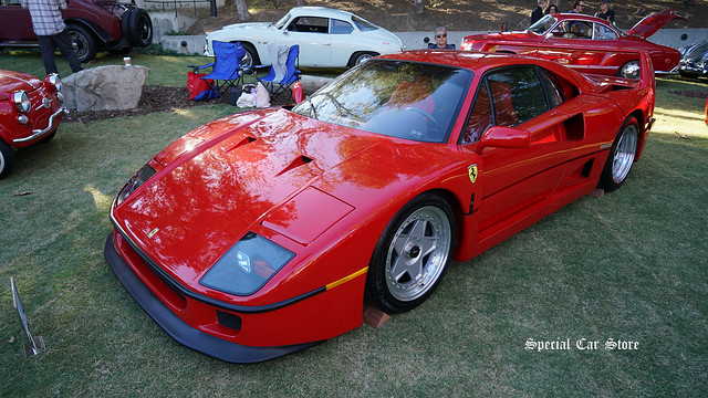 1990 Ferrari F40 Coupe at Red White and Blue theme Art Center Car Classic 2017