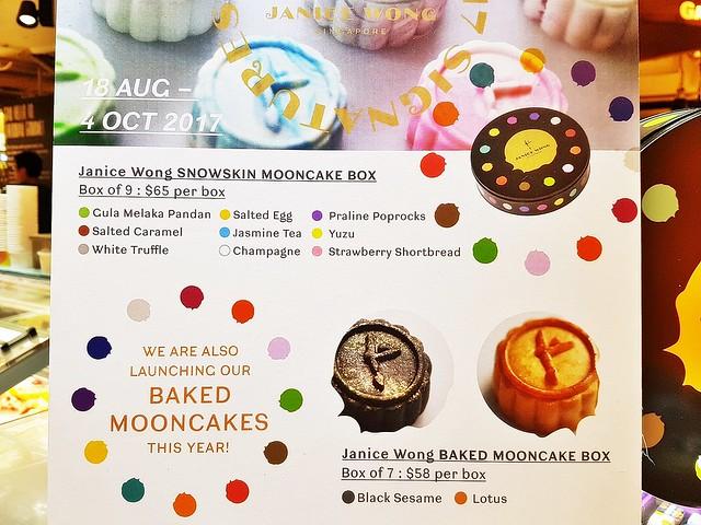 Menu Mooncakes