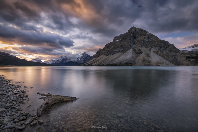 A Cloudy Day in Bow Lake