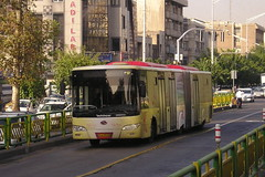King Long articulated service bus,