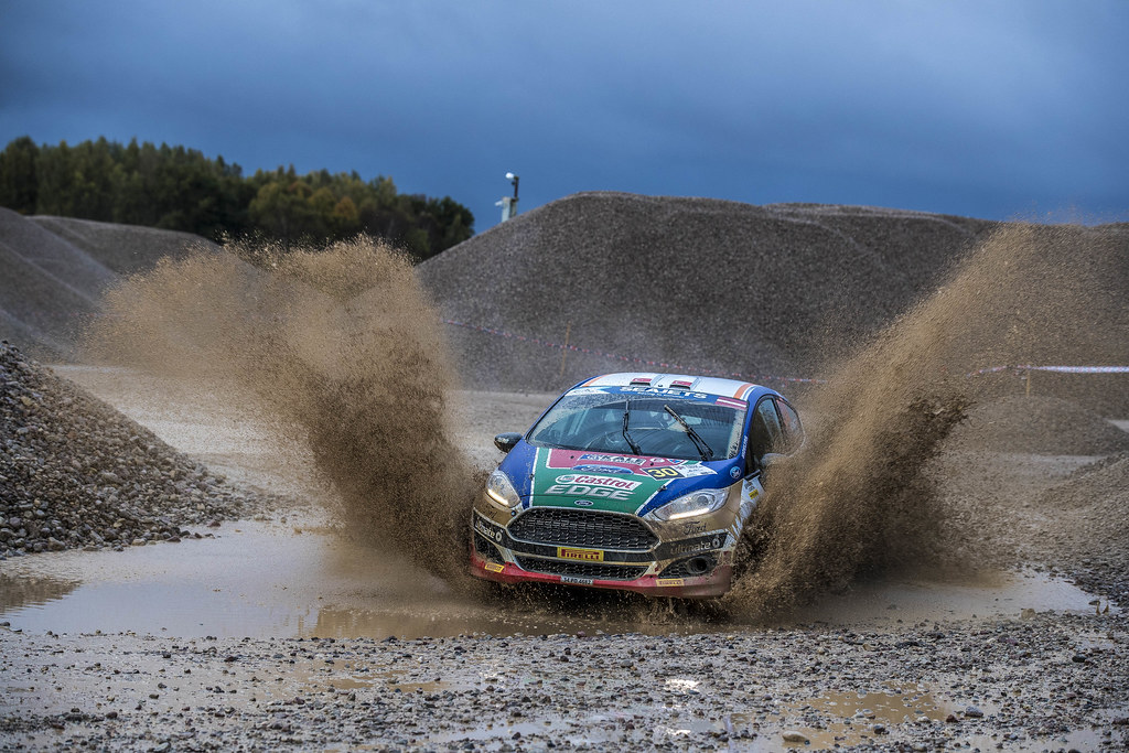 30 Bostanci Murat and Vatansever Onur, Castrol Ford Team Turkiye, Ford Fiesta R2T action during the 2017 European Rally Championship ERC Liepaja rally,  from october 6 to 8, at Liepaja, Lettonie - Photo Gregory Lenormand / DPPI