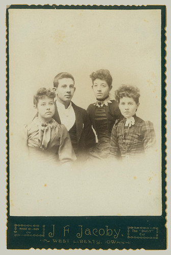 Cabinet Card four young adults