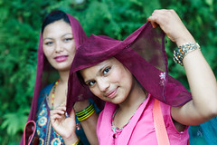 Nepali girls, Dhulikhel, Katmandu Valley, Nepal