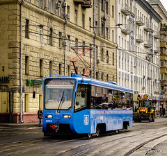 Street at downtown in Moscow, Russia