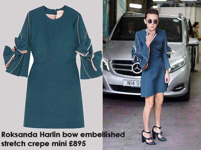 Roksanda-Harlin-bow-embellished-stretch-crepe-mini-