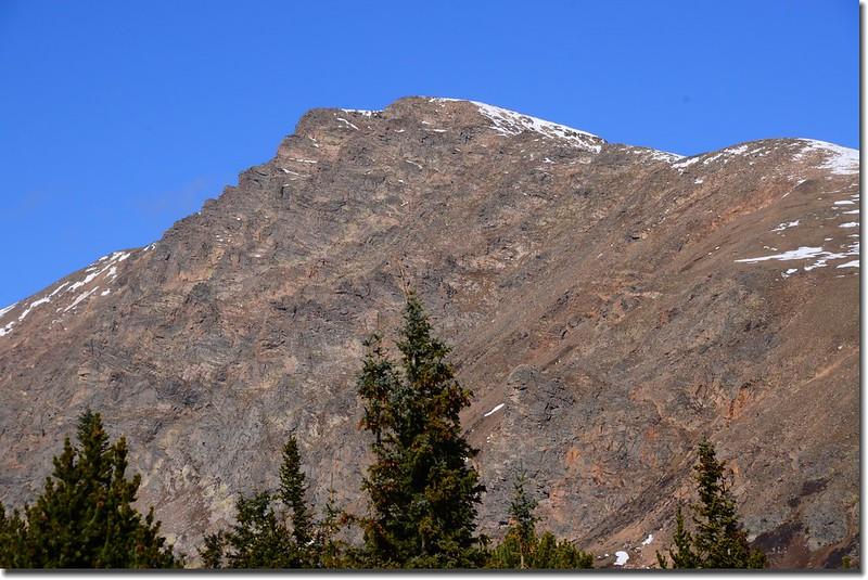 Looking Northwest at Witter Peak from Bill Moore Lake Trail near 11,185'