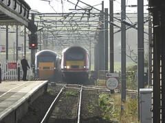 43277 & 43304 pass at Berwick-upon-Tweed (18/10/17)