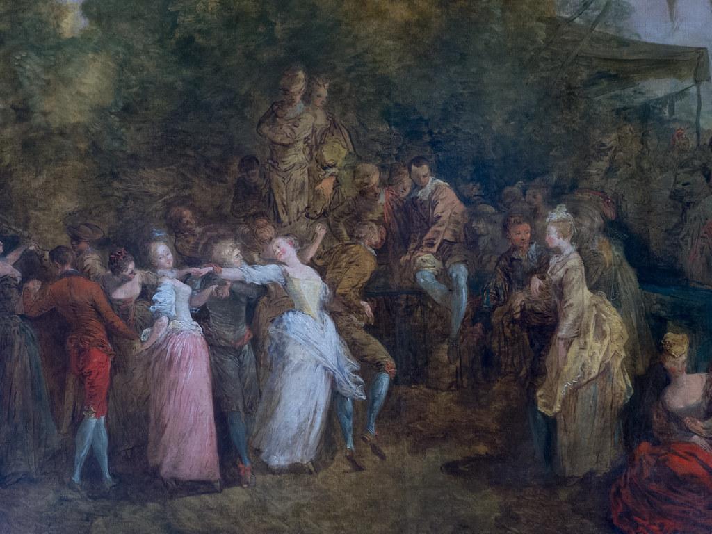"""Jean-Pierre Norblin de La Gourdaine (1745-1830) """"La Kermesse"""" dét. (1785, huile sur toile) musée Czartoryski – Cracovie (Voïvodie de Petite-Pologne)"""