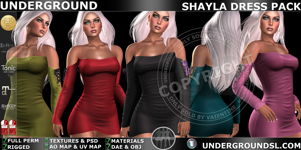 UG MESH SHAYLA DRESS PACK MP - TeleportHub.com Live!