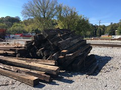Pile of Railroad Ties
