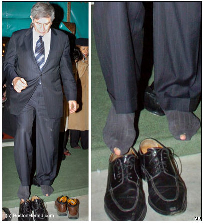 World Bank President Paul Wolfowitz is still being mocked for the holes in his dress socks, which were revealed when he visited a Turkish mosque.