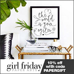 girl friday paper arts ad