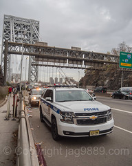 PAPD Port Authority Police Car at the George Washington Bridge, Fort Lee, New Jersey