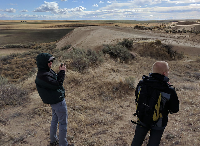 GSA field trip day 3 - at the edge of the leading dune