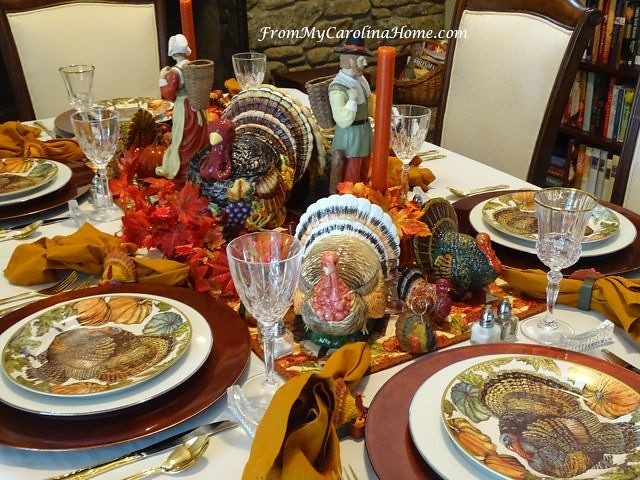 Thanksgiving Tablescape at From My Carolina Home