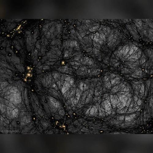 Dark Matter in a Simulated Universe #nasa #apod #kipac #slac #amnh #darkmatter #simulation #baryonic #matter #filaments #universe #space #science #astronomy