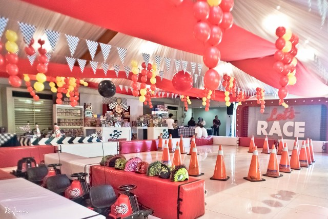 race car theme party main setup (1)