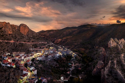 When the sun goes down in Ayna, the so-called Switzerland of La Mancha - Ayna (Albacete, Spain)