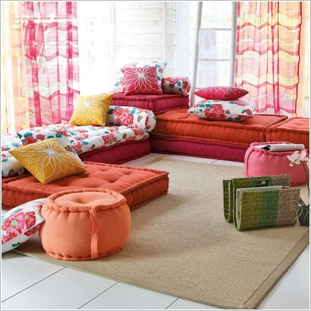10 wonderful alternatives to a living room sofa ideas to love - Canape coussin de sol ...