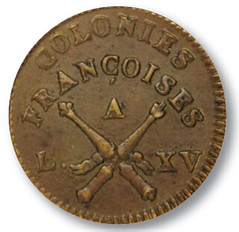 1767 French sol obverse