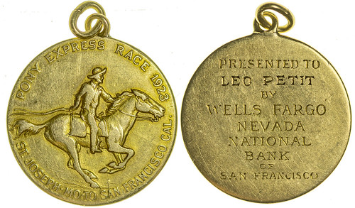 Wells Fargo Pony Express Gold Medal