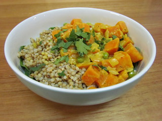 Hearty Sweet Potato and Sorghum Curry