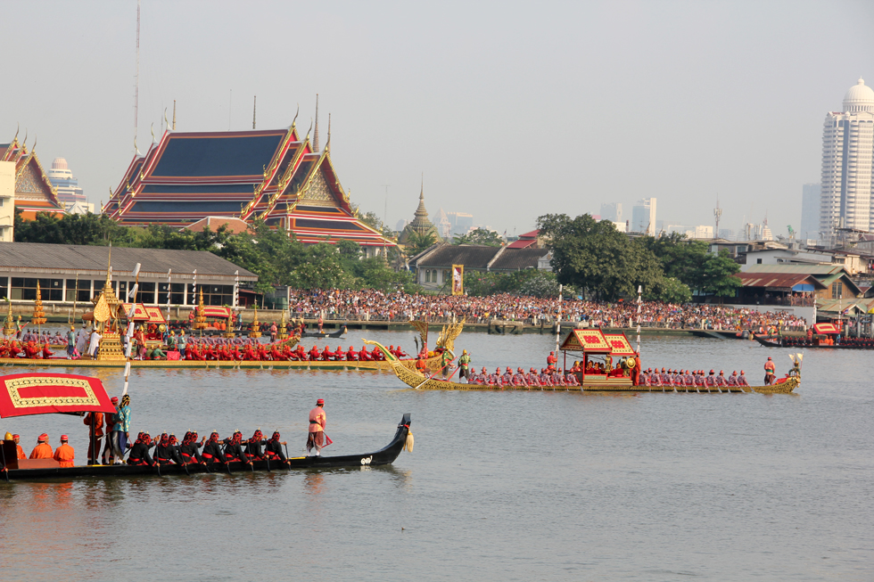 Dress rehearsal for the Royal Barge Procession. Photo taken on November 6, 2012.