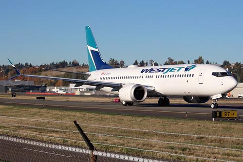 Boeing 737 MAX 8 WestJet C-GXAX LN6528