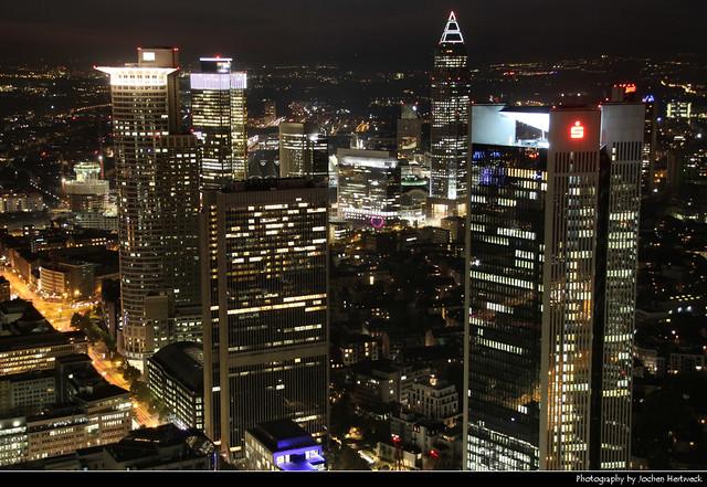 View from Main Tower @ Night, Frankfurt, Germany