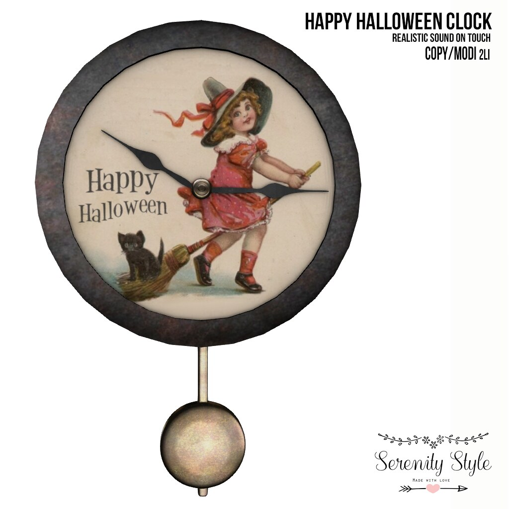 Serenity Style- Happy Halloween Clock