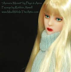 """Annora Monet"" by Phyn & Aero, Painted by Robbin Atwell www.MadWifeInTheAttic.com"