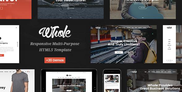 Whole v1.0 – Responsive Multi-Purpose HTML5 Template
