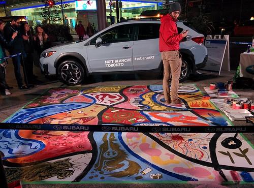 #SubaruArtCar #toronto #nbto17 #financialdistrict #baystreet #kingstreet #kingstreetwest