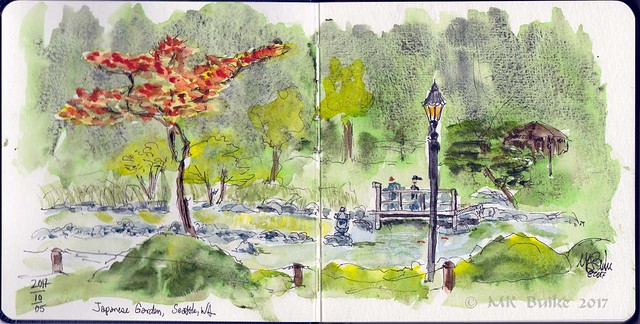 Since I Was The First Sketcher Along Path Several People Stopped To Chat A Couple Had Used Watercolors One Young Woman Asked How Got Effect