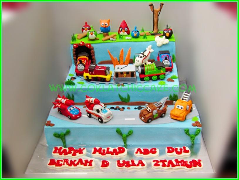 Cake Cars angrybirds Abg Dul