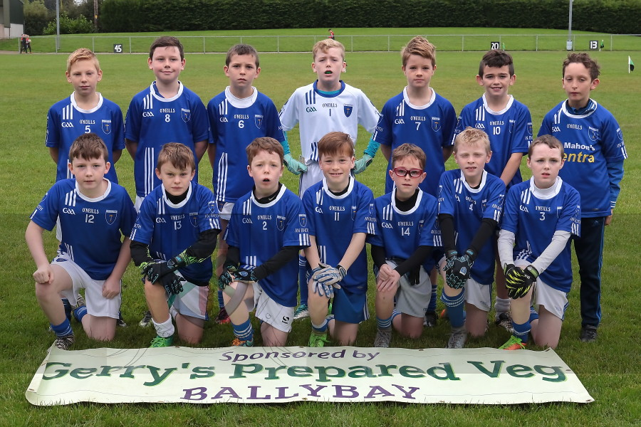 Under 12 Football League Div. 2 Shield Final 2017-Scotstown v Killanny, Sponsored by Gerry's Prepared Veg.