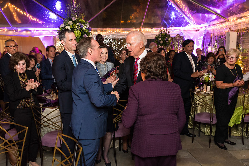Secretary Shulkin, Congresswoman Lowey, with Vice President Biden - 2017 Global Leadership Awards