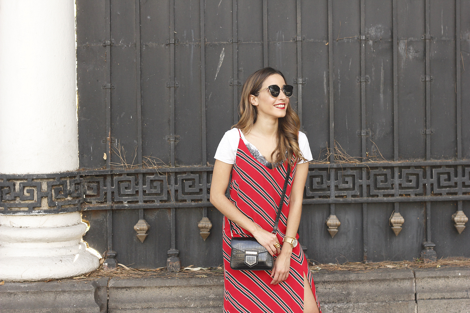 Striped midi dress T-shirt givenchy dress converse outfit trend style fashion12