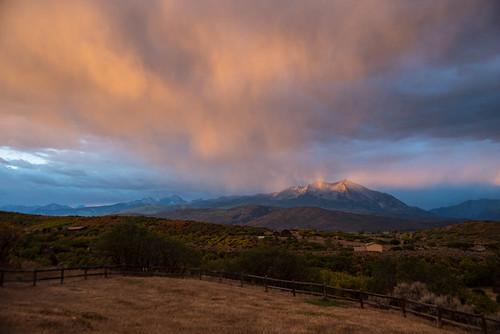 autumn sunrise morning colorado colors rainbowdoublerainbow mountsopris fall september carbondale