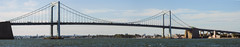 Throgs Neck Bridge Panoramic; viewed from Fort Totten (Bayside, Queens), New York