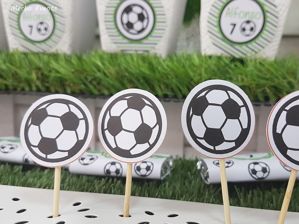 siluetas pelota fiesta cumpleaños futbol Merbo Events