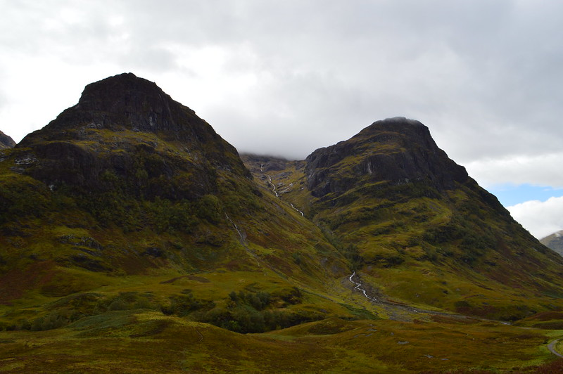 This is a picture of the three steep ridges in glen coe