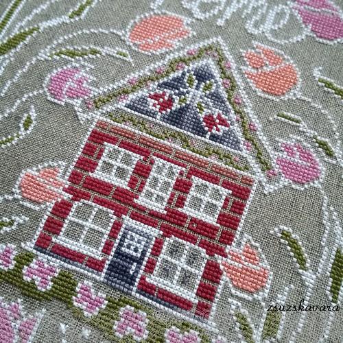 cross stitch, tuliphouse, handsondesign