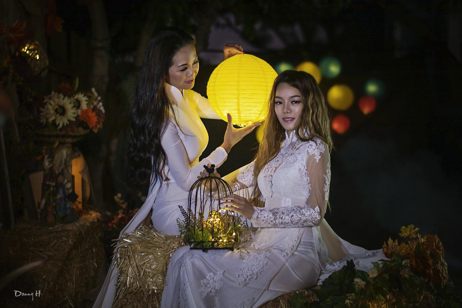 Fantasy Art Photography Vietnamese Fashion Model Ao Dai Trang traditional dress