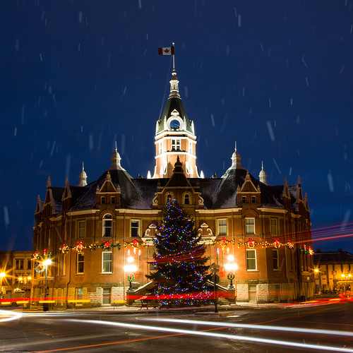 City Hall all dressed for the season. From Stratford Christmas Trail marks beginning of holiday season